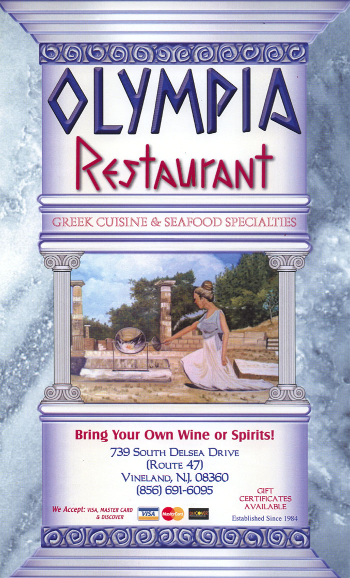 Olympia Restaurant 739 South Delsea Drive Vineland Nj 08360 856 691 6095